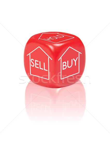 Proprietà buy vendere tenere dadi diverso Foto d'archivio © unikpix