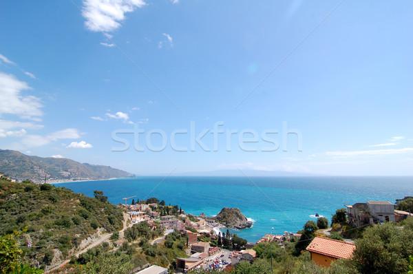 Sycylia widoku niebo wody charakter niebieski Zdjęcia stock © unikpix