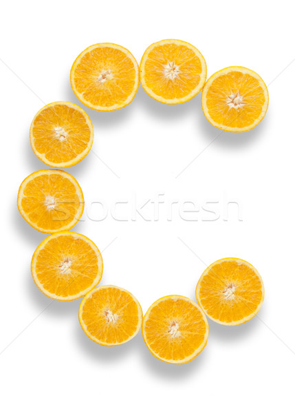 Vitamine c lettre orange pilules froid oranges Photo stock © unikpix