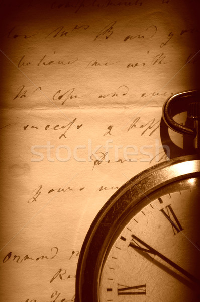 Vintage watch and old letter Stock photo © unikpix