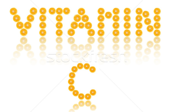 Vitamine c mot orange lettres oranges vitamines Photo stock © unikpix