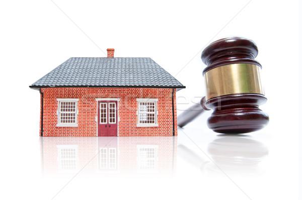 Ev açık artırma model tokmak beyaz hukuk Stok fotoğraf © unikpix