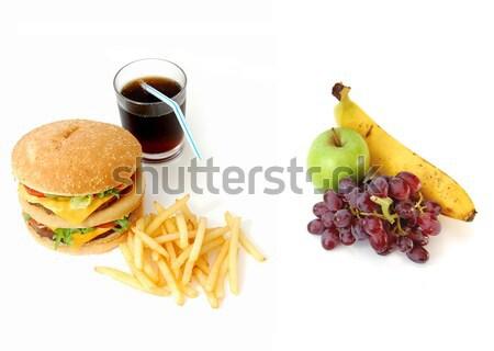 здорового нездоровый рулетка вокруг здоровое питание опции Сток-фото © unikpix
