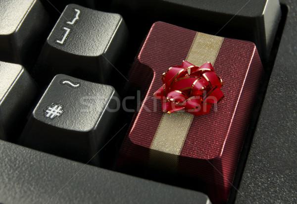 Stock fotó: Online · karácsony · vásárlás · piros · számítógép · belépés