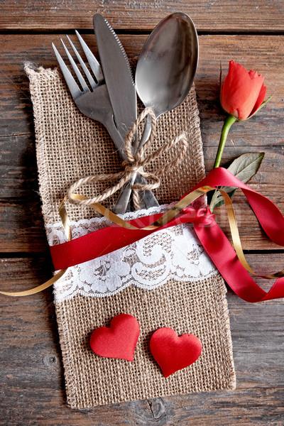 Valentines day meal Stock photo © unikpix