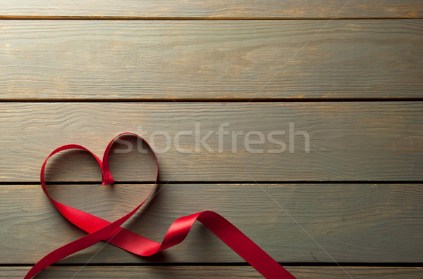 Heartshape red ribbon with space Stock photo © unikpix