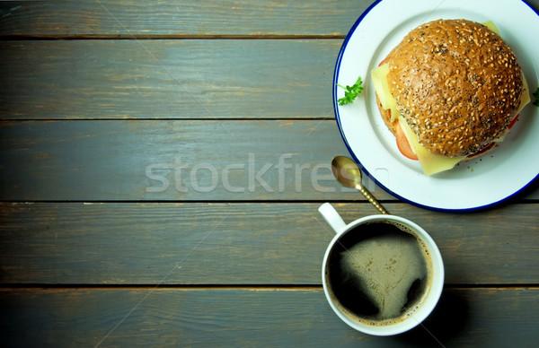 Deli sandwich with coffee and copy space  Stock photo © unikpix