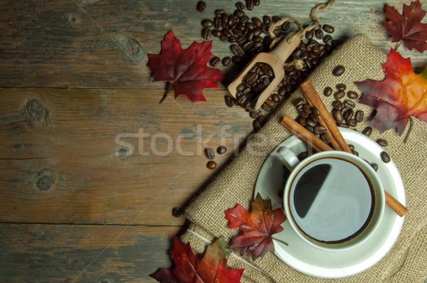чашку кофе осень горячей Top Сток-фото © unikpix
