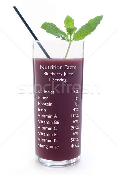 Suco nutrição fatos vidro Foto stock © unikpix