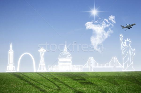 American landmarks cloudscape skyline Stock photo © unikpix