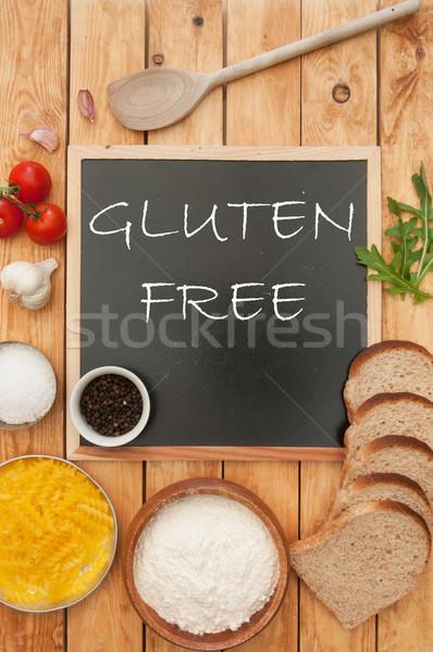 Gluténmentes kézzel írott kréta tábla étel konyha Stock fotó © unikpix