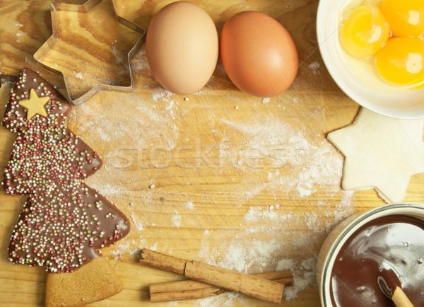Christmas baking background Stock photo © unikpix