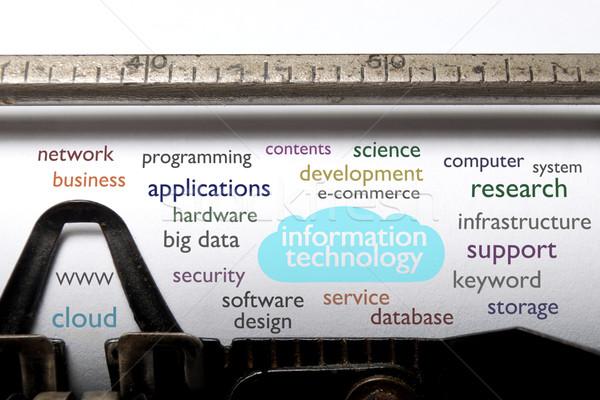 Information technology cloud  Stock photo © unikpix