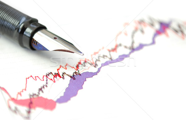 Stok grafik kalem üst iş grafik Stok fotoğraf © unikpix