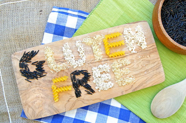 Glutenvrij rijst pasta voedsel Stockfoto © unikpix
