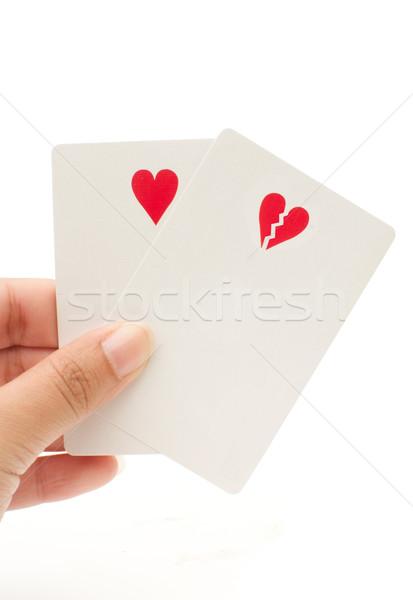 Heart and broken heart shaped symbol Stock photo © unikpix