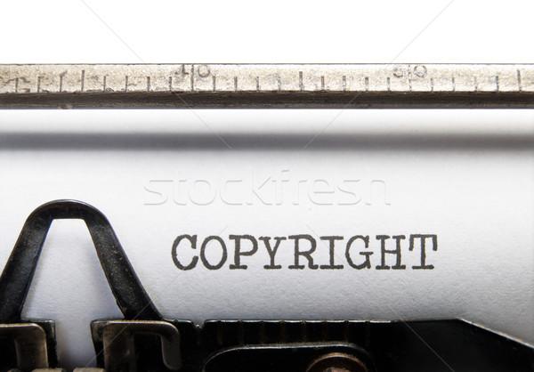 著作権 タイトル ヴィンテージ タイプライター 法的 右 ストックフォト © unikpix
