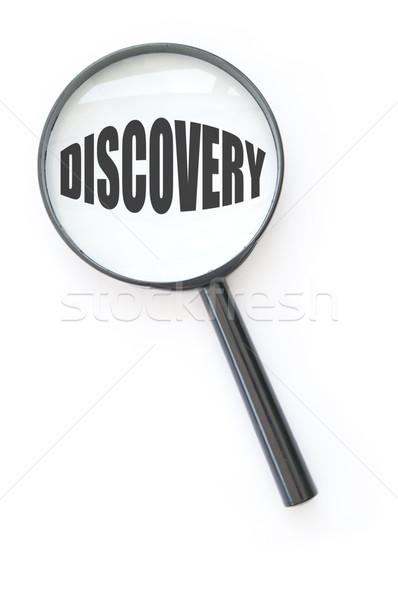 Descubrir lupa centrado palabra descubrimiento negocios Foto stock © unikpix