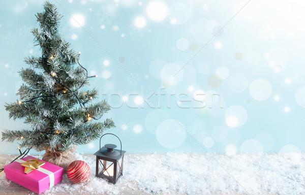 Stock photo: Christmas tree background