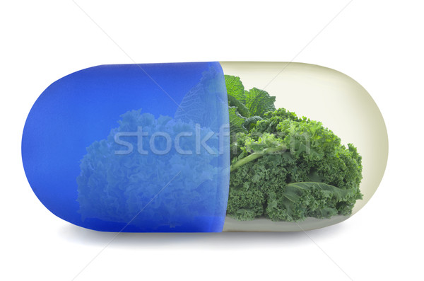 Kale superfoods vitamin pill concept Stock photo © unikpix
