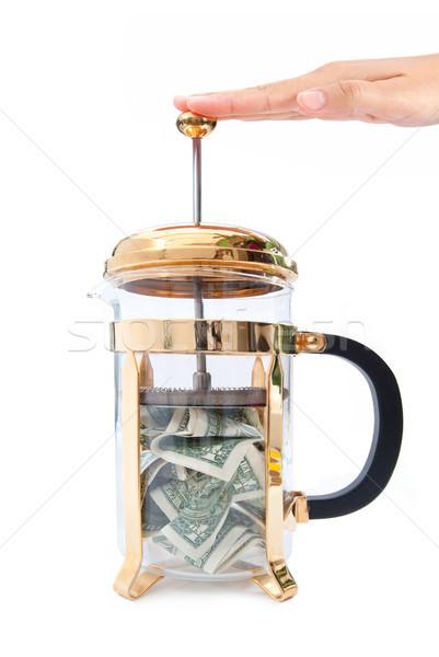 Stretto bilancio caffè business finanziare Foto d'archivio © unikpix