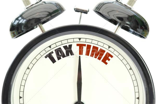 налоговых время часы белый текста Сток-фото © unikpix