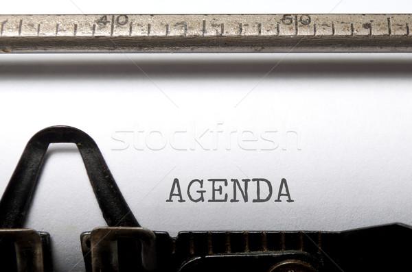 L'ordre du jour imprimé machine à écrire affaires réunion nouvelles Photo stock © unikpix
