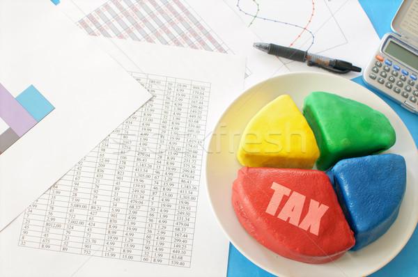 Belasting cirkeldiagram gesneden een Stockfoto © unikpix