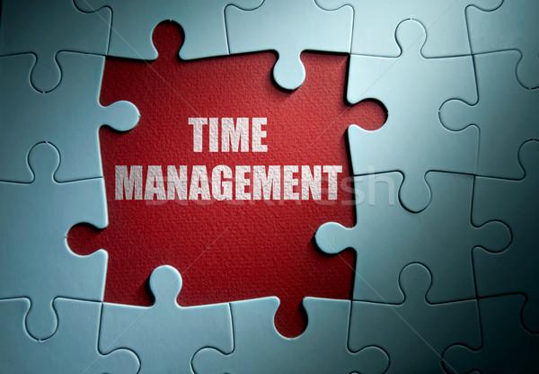 Időbeosztás hiányzó darabok kirakós játék üzlet idő Stock fotó © unikpix