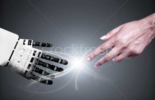 Robot insan eli bağlantı insan dokunmak teknoloji Stok fotoğraf © unikpix