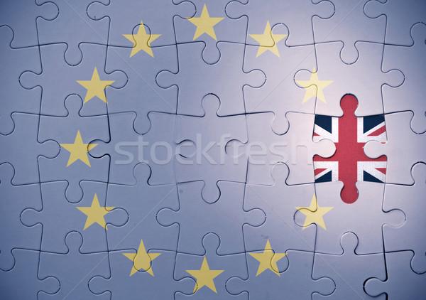 Foto stock: Rompecabezas · europeo · Unión · que · falta · pieza