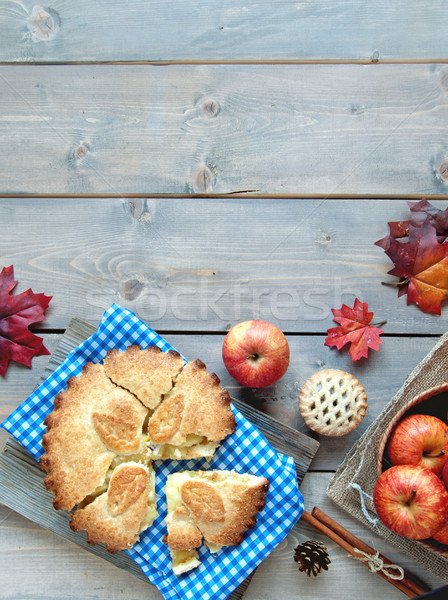 Apple pie background Stock photo © unikpix