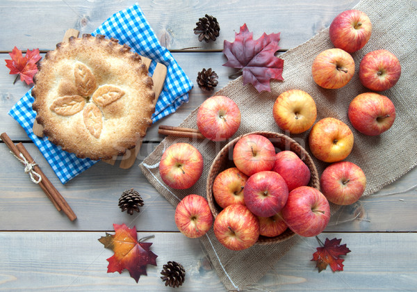 Apple pie with ingredients Stock photo © unikpix