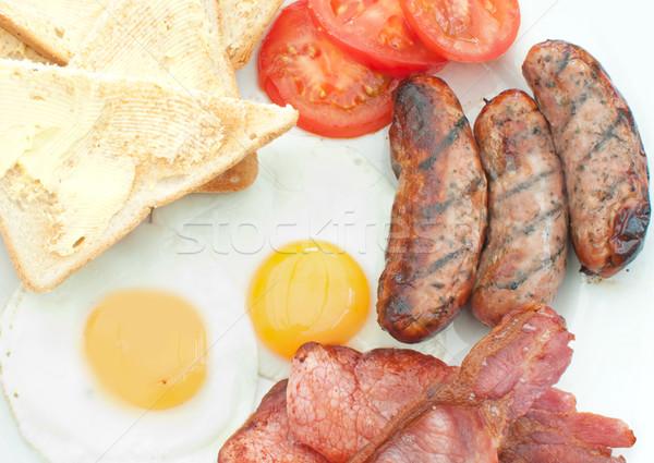Pişmiş İngilizce kahvaltı geleneksel yukarı Stok fotoğraf © unikpix
