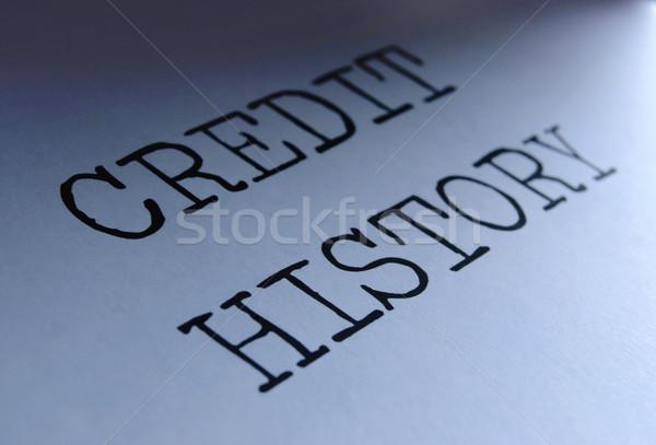 Kredit történelem közelkép egyensúly jelentés Stock fotó © unikpix