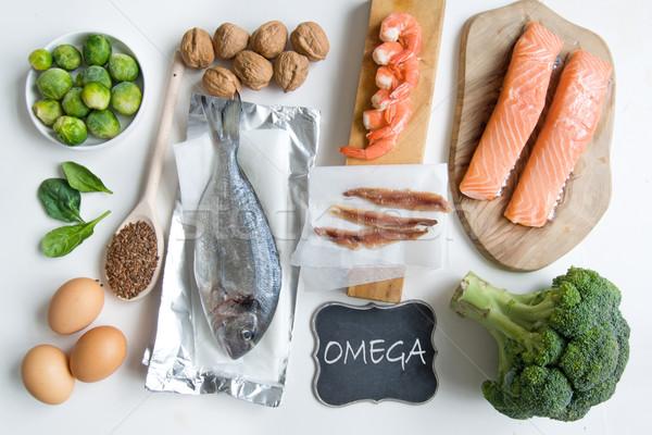 Stockfoto: Omega · vet · zuur · voedsel · rijke