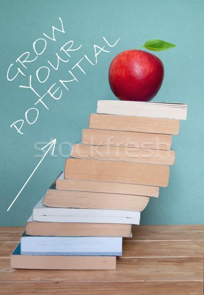 образование прогресс большой книгах Сток-фото © unikpix