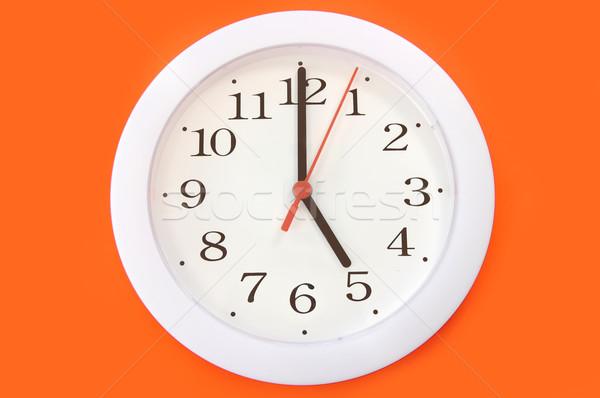 часы изолированный стены стороны работу фон Сток-фото © unikpix