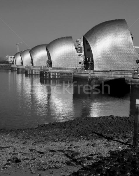 London River Thames barrier Stock photo © unikpix