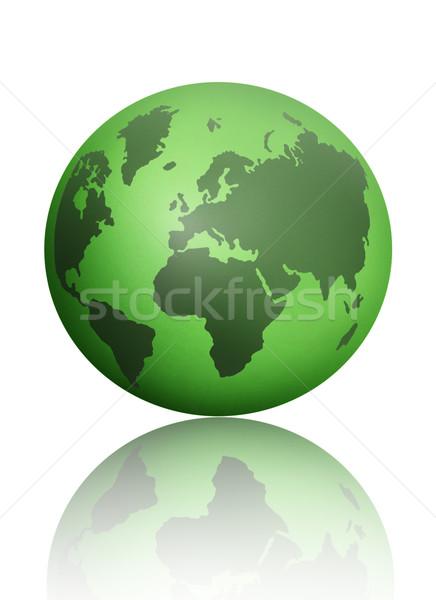 Zöld világ atlasz földgömb térkép fehér Stock fotó © unikpix