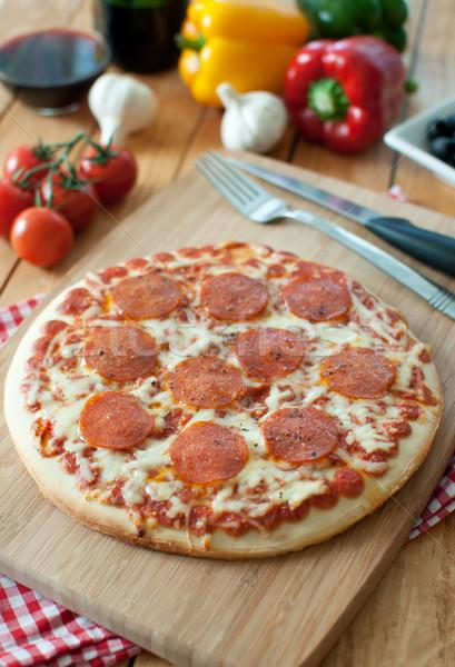 ペパロニ ピザ イタリア語 チーズ ストックフォト © unikpix