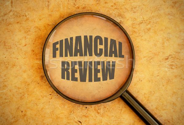 финансовых увеличительное стекло слов Финансы баланса Сток-фото © unikpix