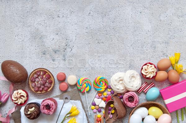 Pâques aliments sucrés bonbons boulangerie chocolat Photo stock © unikpix