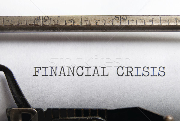 Financial crisis Stock photo © unikpix