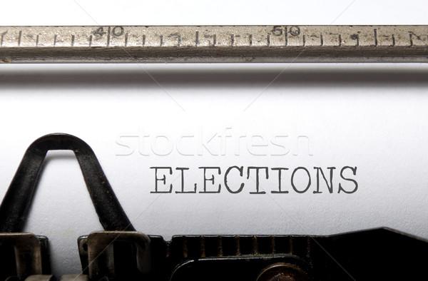 Seçimler basılı daktilo gazete haber oy Stok fotoğraf © unikpix