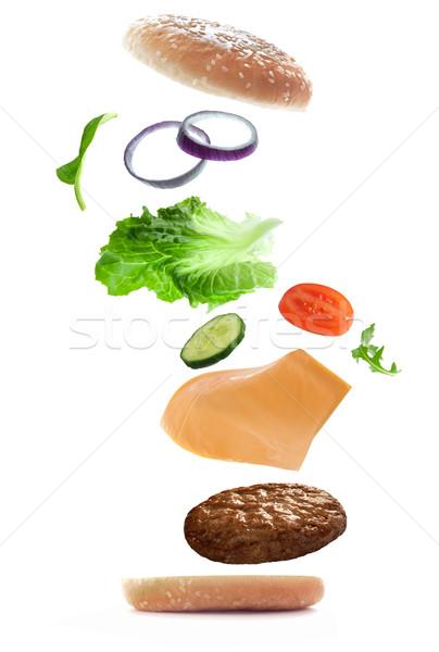 Burger creation Stock photo © unikpix