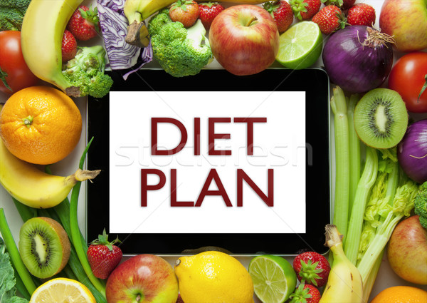 Diet plan Stock photo © unikpix