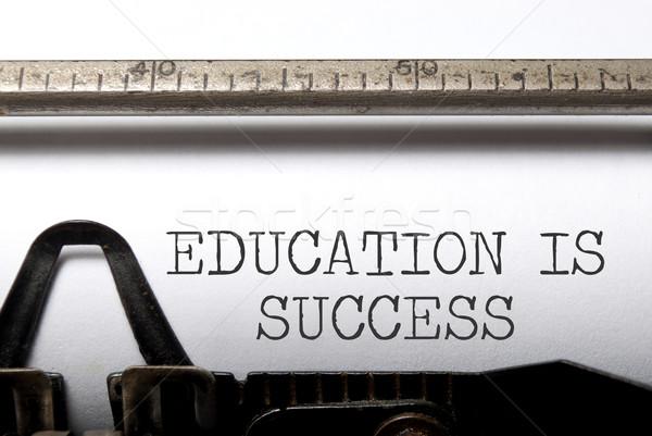 Oktatás siker nyomtatott klasszikus írógép érettségi Stock fotó © unikpix