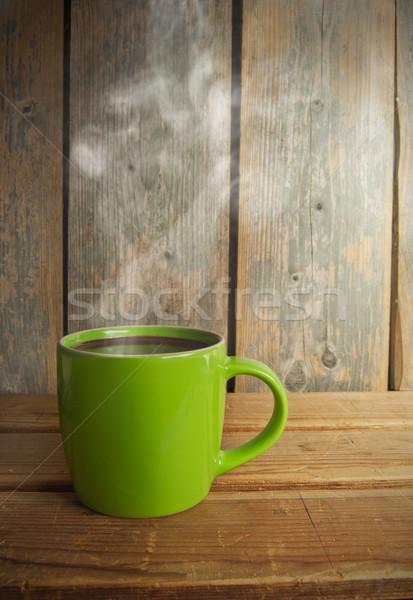 Sıcak çikolata fincan gıda kahve çikolata kahvaltı Stok fotoğraf © unikpix