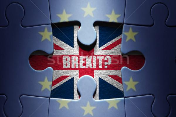 Puzzle hiányzó darab európai kirakós játék brit zászló Stock fotó © unikpix